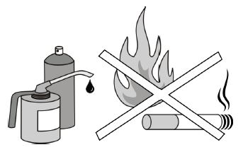 keep away from open fires
